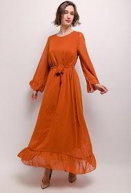 JASMINAH PARIS vestido longo plumeti