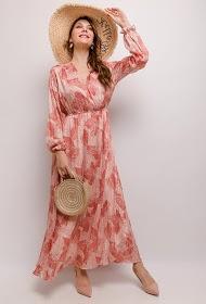 JASMINAH PARIS vestido longo estampado