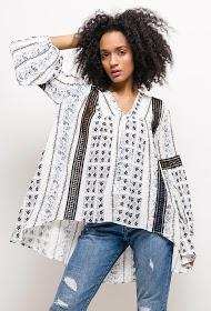 JAUNE ROUGE printed blouse