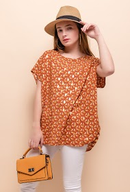 JAUNE ROUGE printed blouse