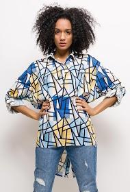 JAUNE ROUGE loose printed shirt