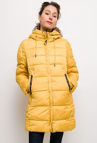 JAUNE ROUGE down jacket with hood