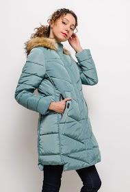 JAUNE ROUGE quilted coat