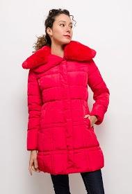JAUNE ROUGE manteau matelassé