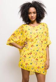 JAUNE ROUGE loose floral dress
