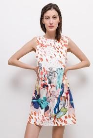 JAUNE ROUGE bedrucktes kleid