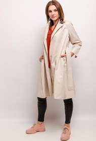 JAUNE ROUGE belted trench