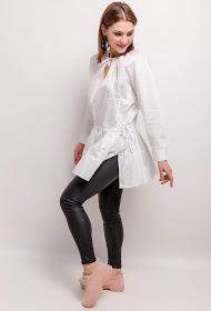 JAUNE ROUGE camicia tunica