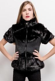 JAUNE ROUGE bi-material jacket