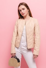 JAUNE ROUGE faux leather jacket