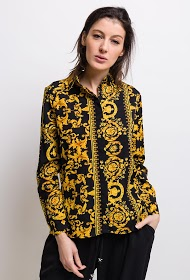 JCL PARIS baroque print shirt