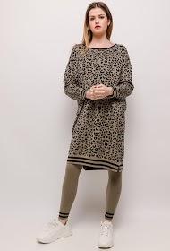 JCL PARIS leopard knit set