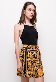 JCL PARIS baroque print skirt