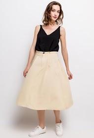 JCL PARIS midi skirt with pockets
