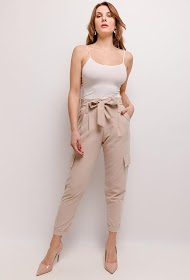 JCL PARIS pantalon chic cargo