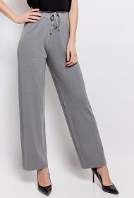 JCL PARIS wide mesh trousers