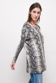 JCL PARIS slangenprint sweater