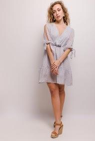 JCL PARIS plumetis dress