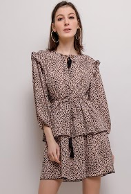 JCL PARIS vestido de leopardo