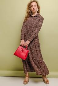 JCL PARIS long printed dress