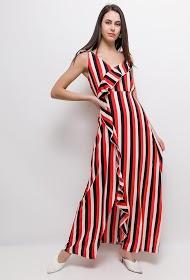 JCL PARIS vestido longo listrado
