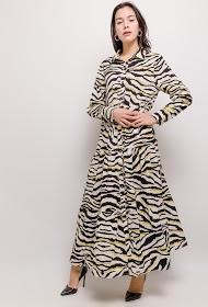 JCL PARIS langes zebrakleid