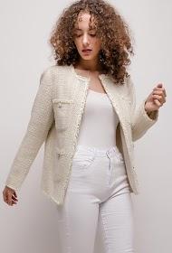 JCL PARIS skinnende tweed-jakke
