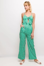 JESSY ET CO striped jumpsuit