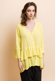 JESSY ET CO tunic with pleated edging