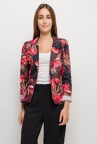 JOLIFLY blazer with flowers print