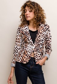 JOLIFLY animal patterned blazer