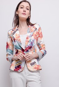 JOLIFLY jolifly printed blazer