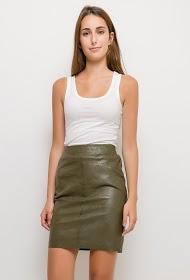 JOLIFLY similie leather skirt