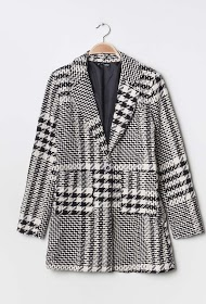 JOLIFLY houndstooth coat