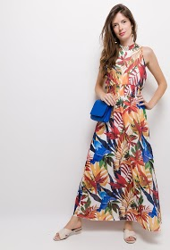 JOLIFLY tropical long dress