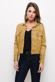 JOLIFLY polka dot buckskin effect jacket
