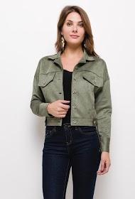 JOLIFLY suede effect jacket