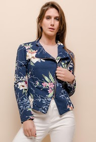 JOLIFLY zipped jacket with printed flowers