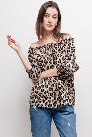 JOLIO & CO leopoard patterned blouse
