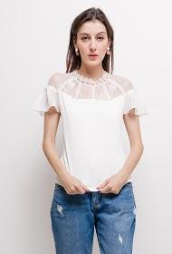 JOLIO & CO bi-material blouse