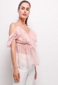 JOLIO & CO tulle blouse