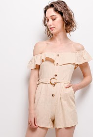 JOLIO & CO buttoned playsuit