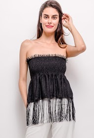 JOLIO & CO fringed tank top