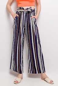 JOLIO & CO wide striped pants