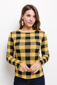 JOLIO & CO checkered sweater