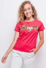 JOLIO & CO hello t-shirt with leopard