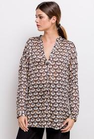 JÖWELL shiny loose blouse