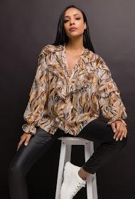 JÖWELL printed shirt with ruffles