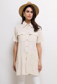 JÖWELL mid-length blended linen shirt