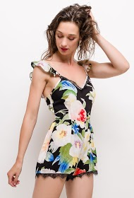 JÖWELL flowery playsuit with bare back